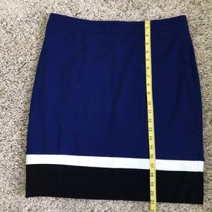 Blue white and black pencil skirt